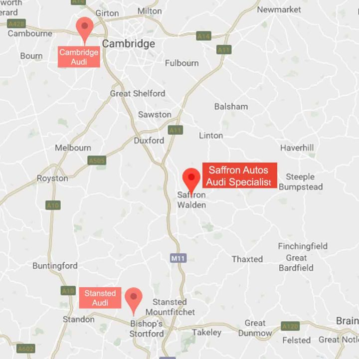 Cambridge Audi Stansted Audi Map